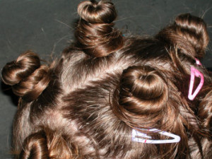 hair in buns