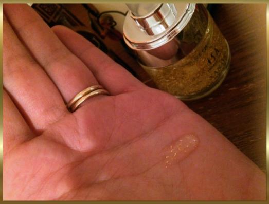 24k gold serum flecks of gold