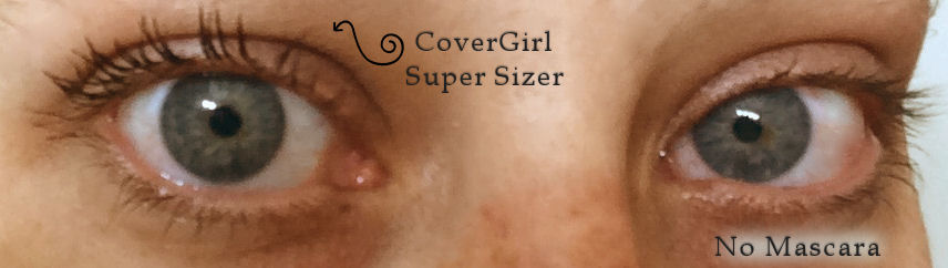 CoverGirl Super Sizer Mascara Results