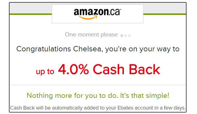 Ebates Cash Back Canada