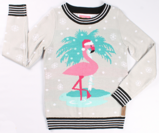 Flirty Flamingo Sweater Tipsy Elves