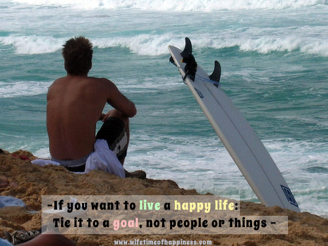 if you want to live a happy life quote
