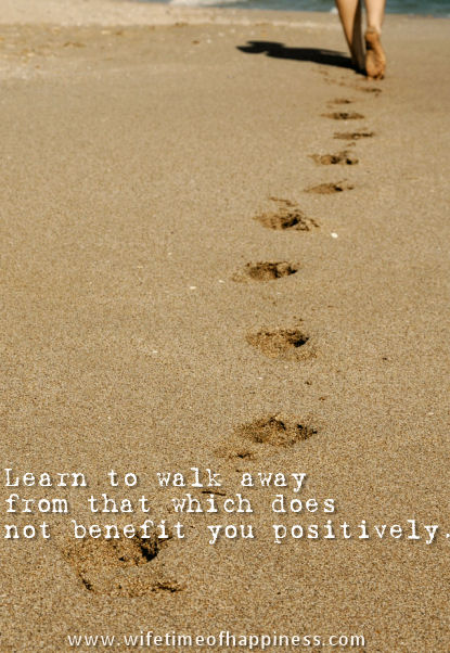 walk away from negative quote