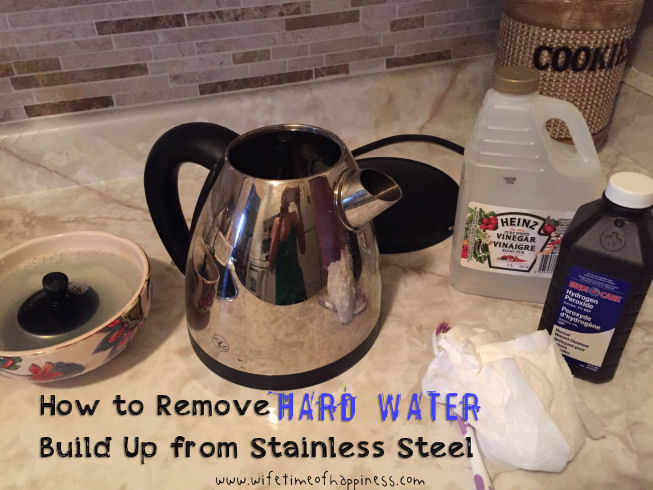 how to remove hard water from stainless steel