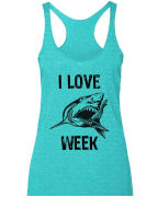 i love shark week tank top