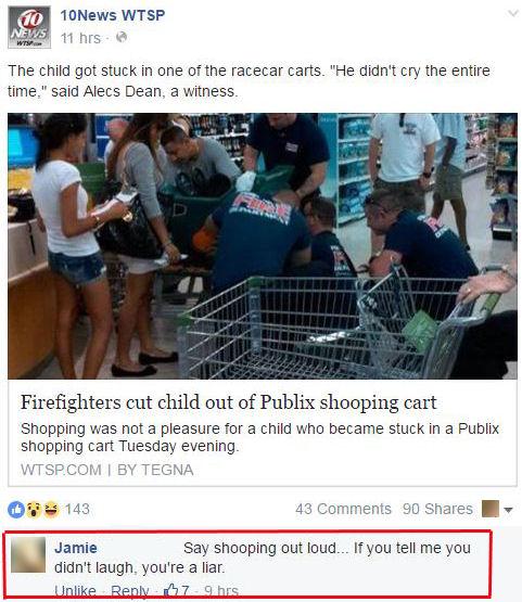 Funny Facebook Comments Shooping Cart