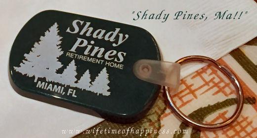 Golden Girls Shady Pines Keychain