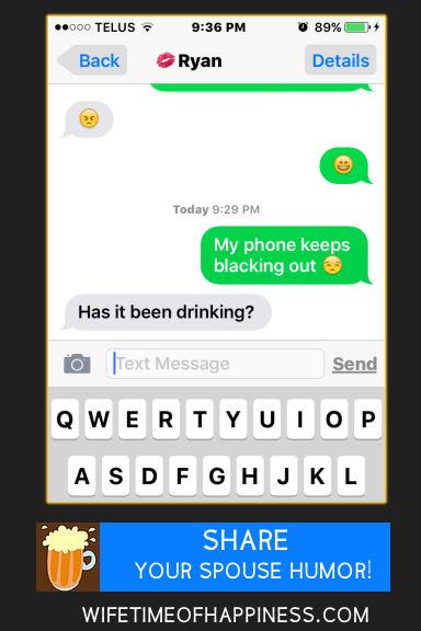 funny husband texts