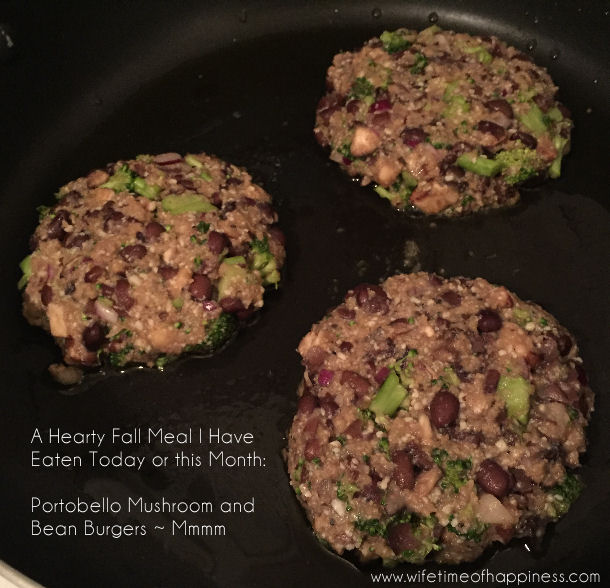 Portobello Mushroom and Bean Burger