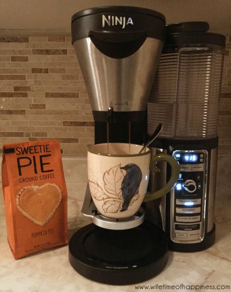 pretty fall coffee mug