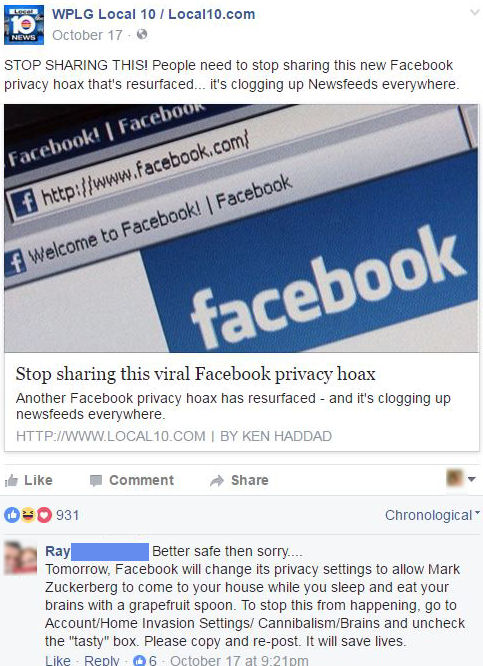 funny facebook comments the hoax