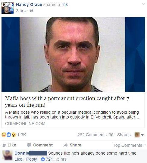 mafia boss doing hard time