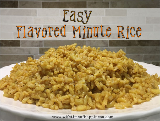 how to make flavored rice