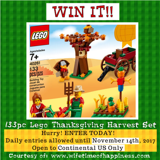 Lego Thanksgiving Harvest Giveaway Wifetime of Happiness