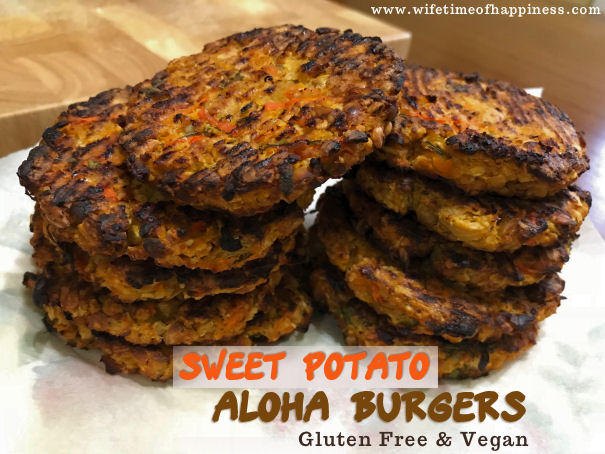 sweet potato aloha burgers wifetime of happiness