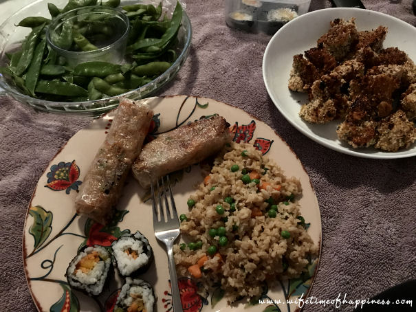what I eat in a day vegan dinner chinese spread