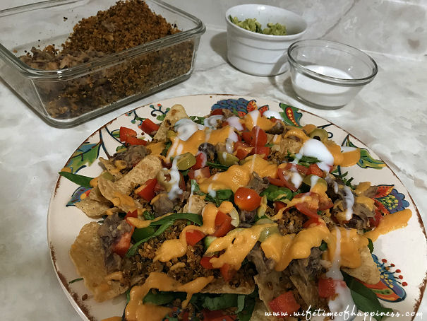 what I eat in a day vegan dinner nachos and cheese