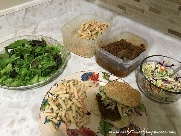 what I eat in a day vegan dinner sloppy joes