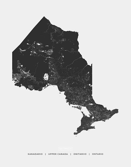 Ontario Map Art Saltwreck