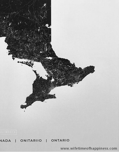 saltwreck print map art ontario