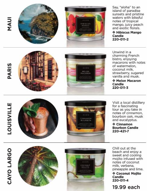 Avon summer scented candles