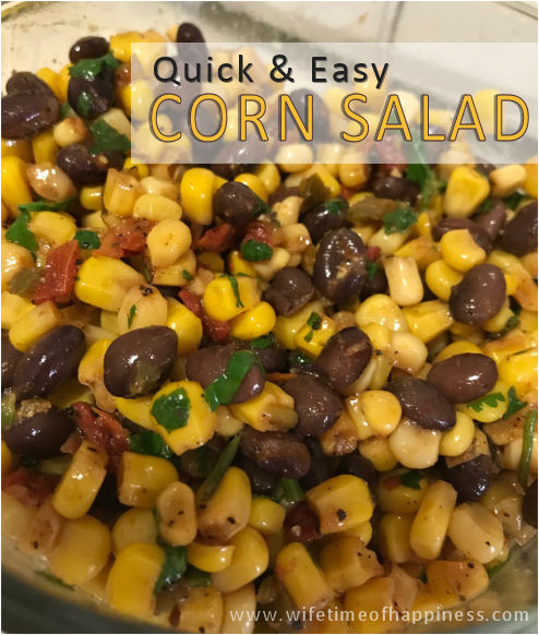 vegan corn salad