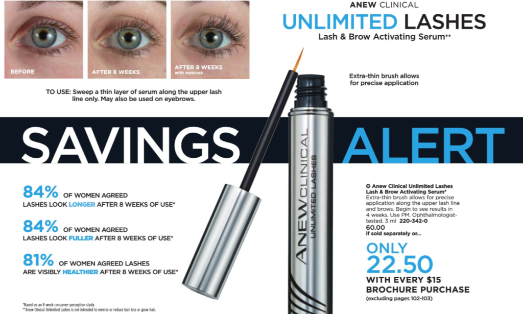 Avon Eyelash Serum Anew Clinical Lash and Brow Serum