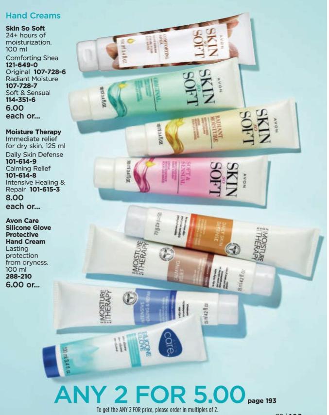 Avon Hand Creams