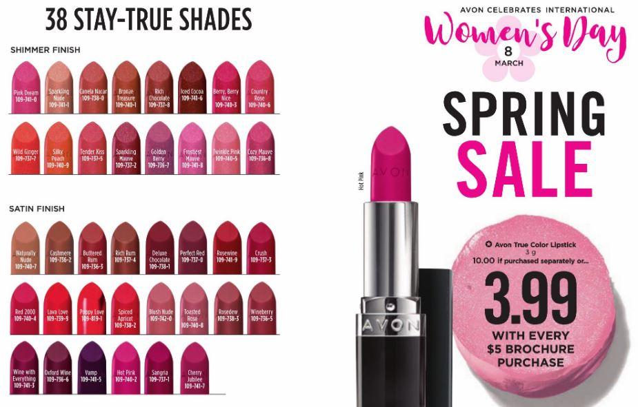 Avon True Color Lipstick Shades Canada